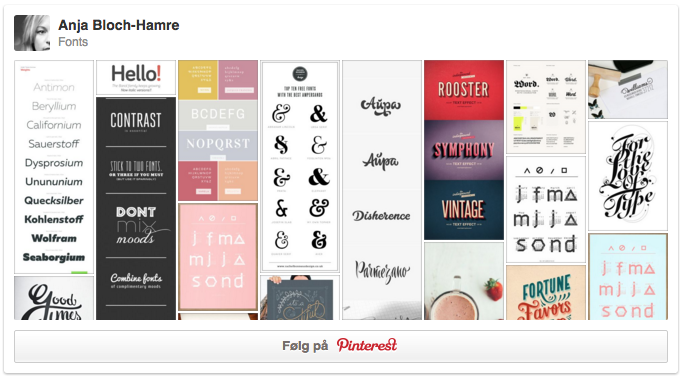 Pinterest - Anja Bloch-Hamre - Fonts