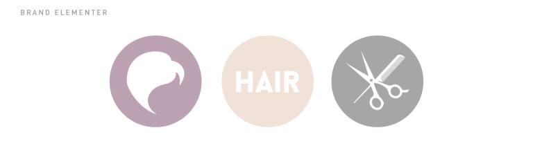 HAIR brand elementer