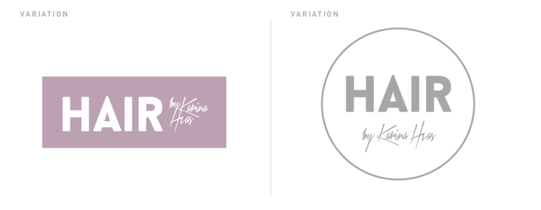 HAIR logo variationer