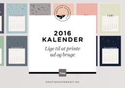 2016 kalender - lige til at printe ud og bruge - free calendar for 2016 - grafisksuperhelt.nu