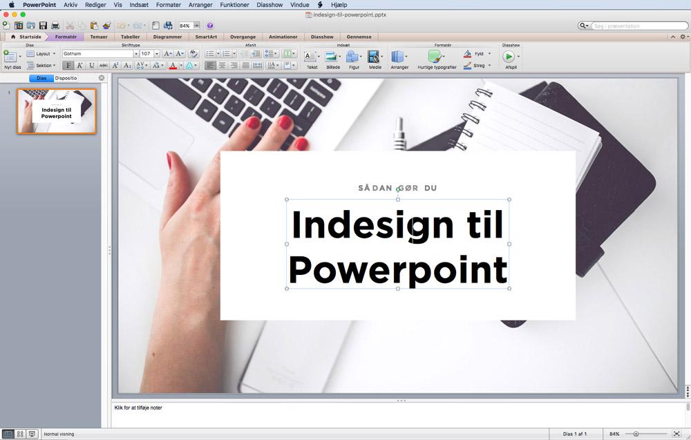 Åben powerpointen