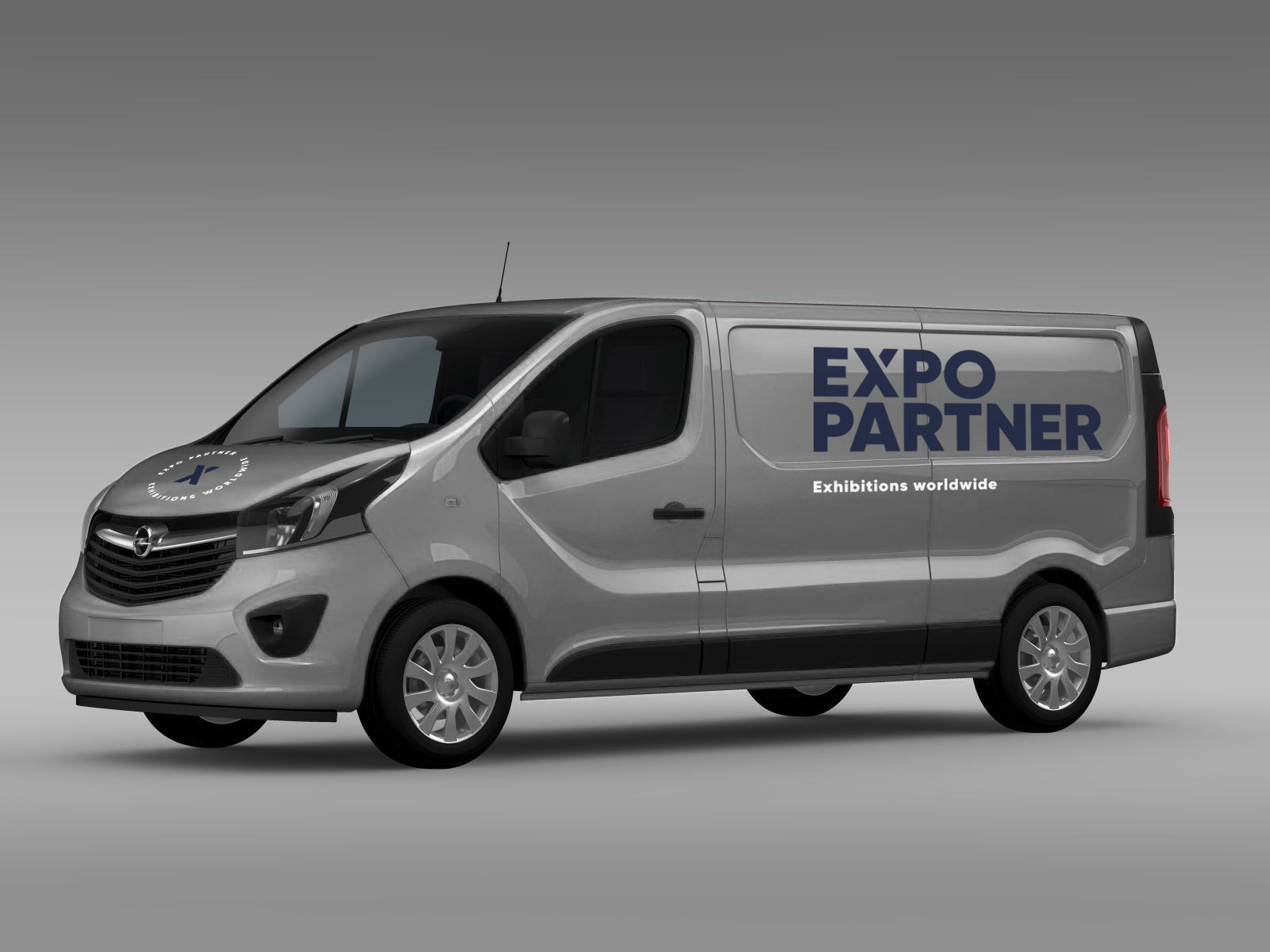 Expo Partner logo på bil