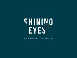 Shining Eyes - negativ version af logo