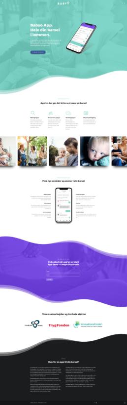 Babyo App - hjemmeside