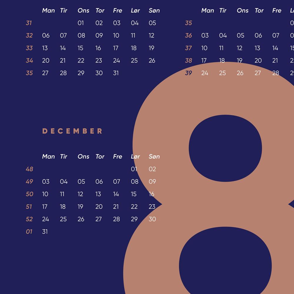 2018 kalender til dit skrivebord