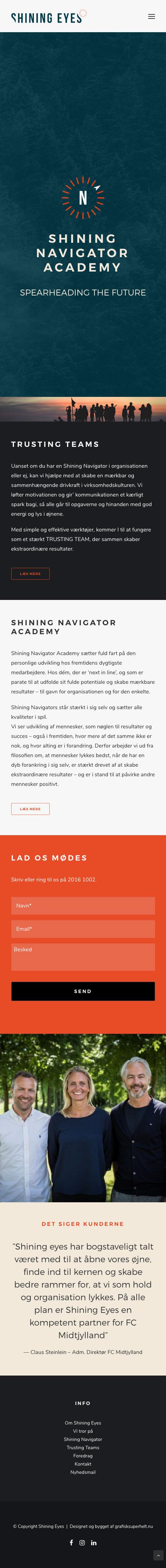 shiningeyes.dk mobile version