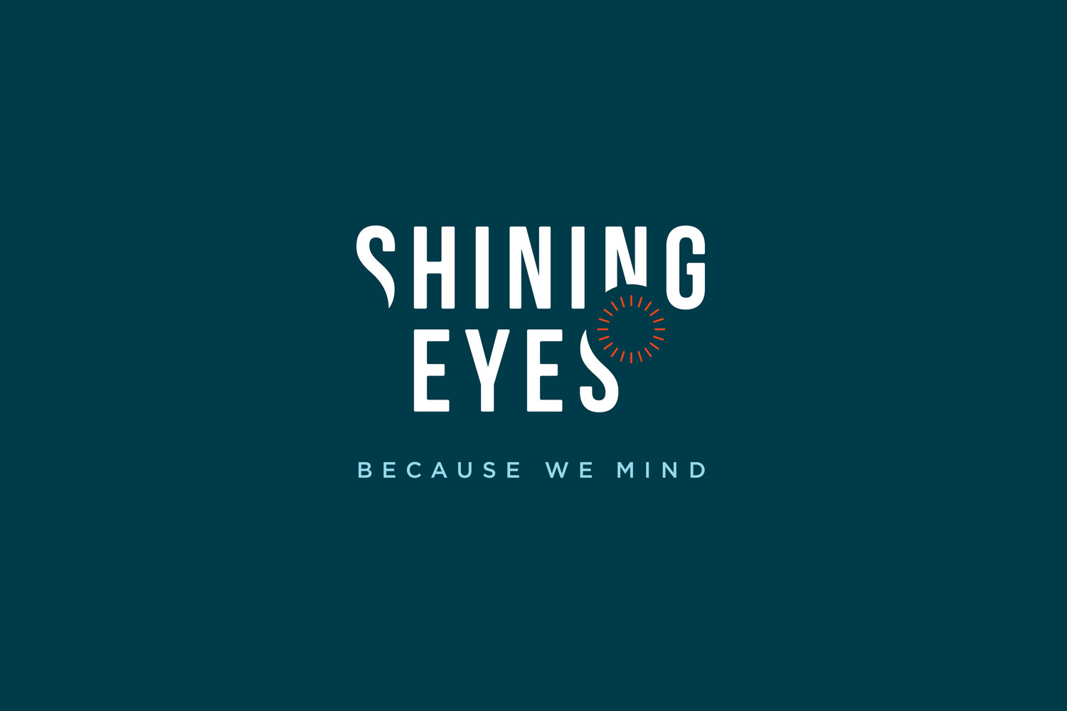 Shining Eyes - negativ version af logo