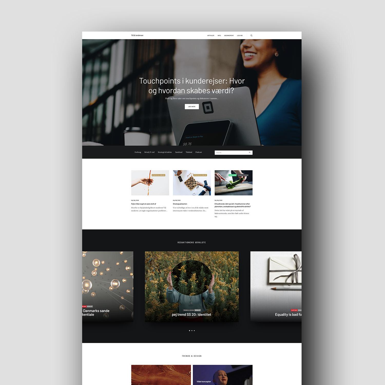 Nyt design til nyhedsportal