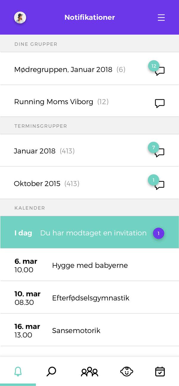 Babyo App - notifikationer