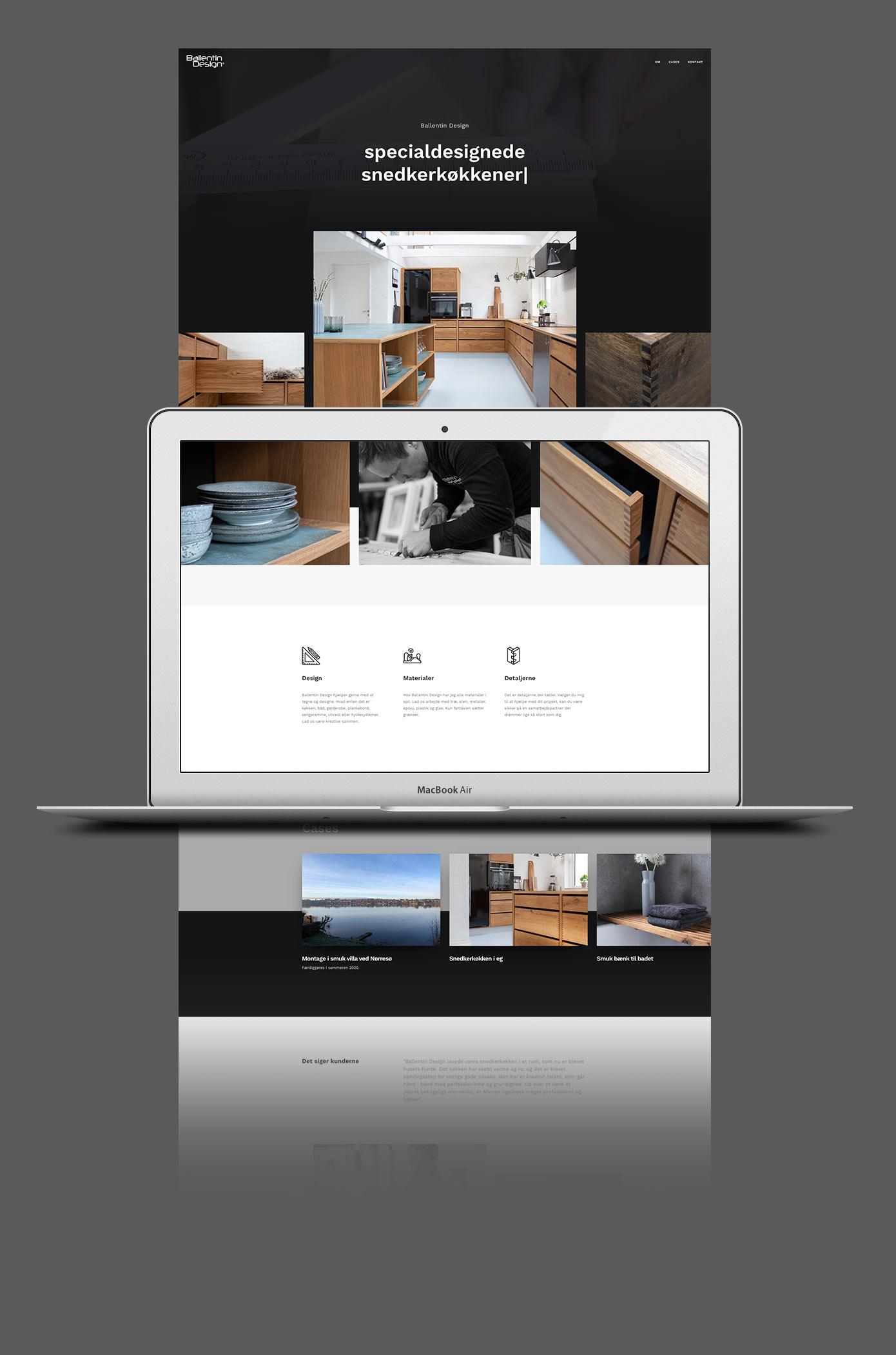 Ballentin Design web